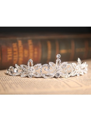 Gorgeous Clear Crystals Flower Wedding Party Headpiece