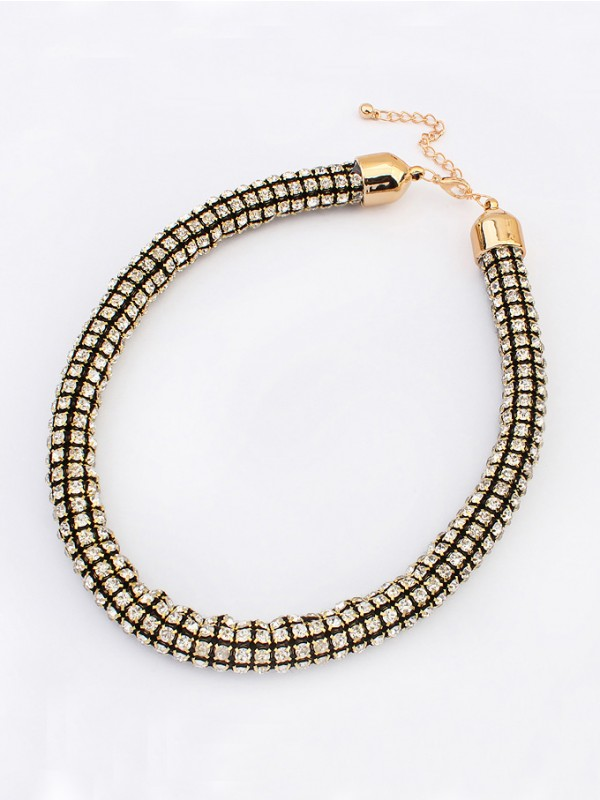 Occident Hyperbolic Major suit Flash drilling Fashion Necklace