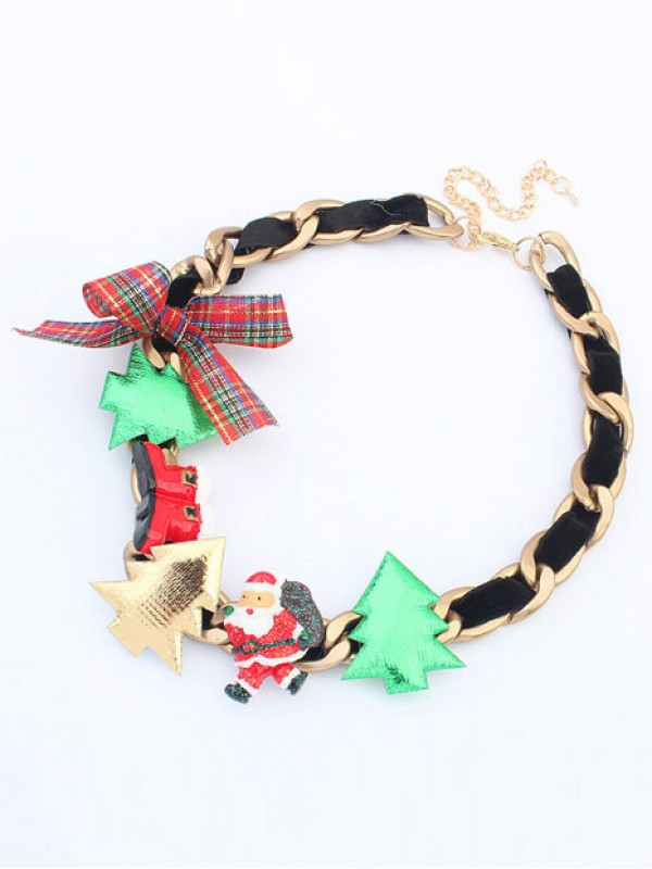 Occident Personality Christmas Series Fashion Necklace