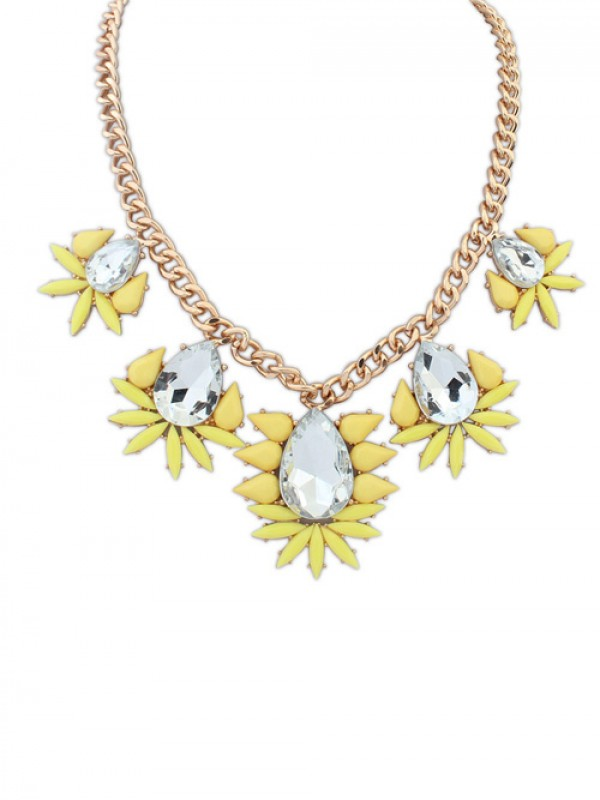 Occident Hyperbolic all-match Water Drop Fashion Necklace