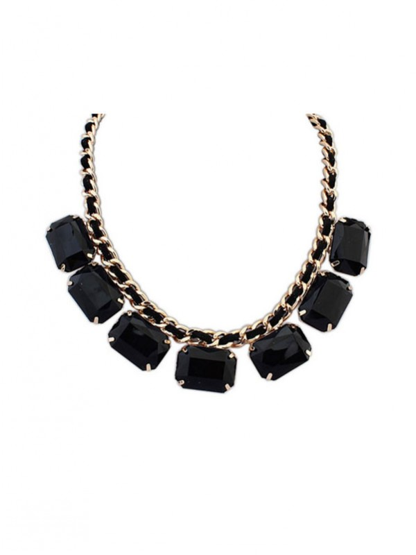 Occident Simple Blocks All-match New Fashion Necklace