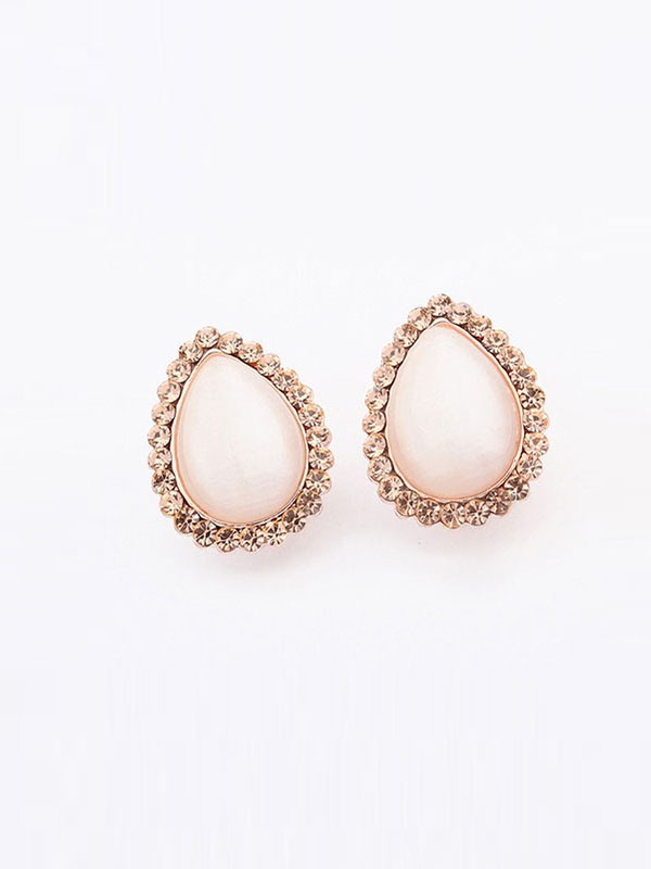 Occident Water Drop Temperament Catseye Fashion Ear Clip