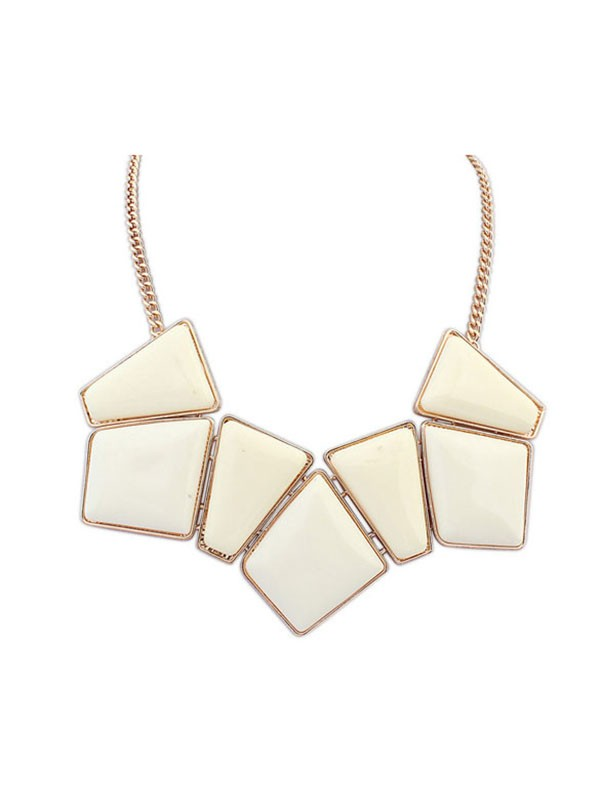 Occident Geometry Blocks All-match Fashion Necklace