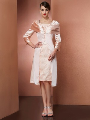 Elastic Woven Satin Long Sleeves Special Occasion Fashion Wrap