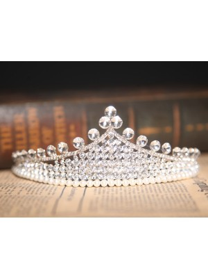 Gorgeous Clear Crystals Pearl Wedding Headpieces