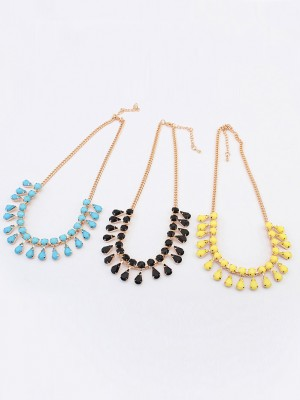Occident all-match Water drop Temperament Fashion Necklace