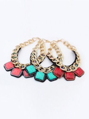 Occident Hyperbolic Metallic thick chains Personality Fashion Necklace