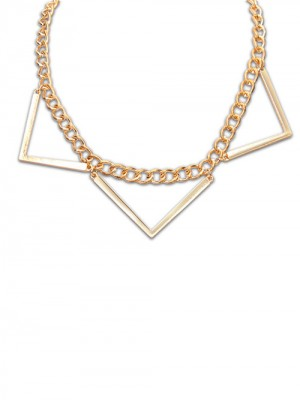 Occident Hyperbolic Punk Triangle Geometry Fashion Necklace