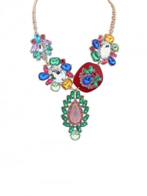 Occident Gorgeous Multicolor Trendy Fashion Necklace
